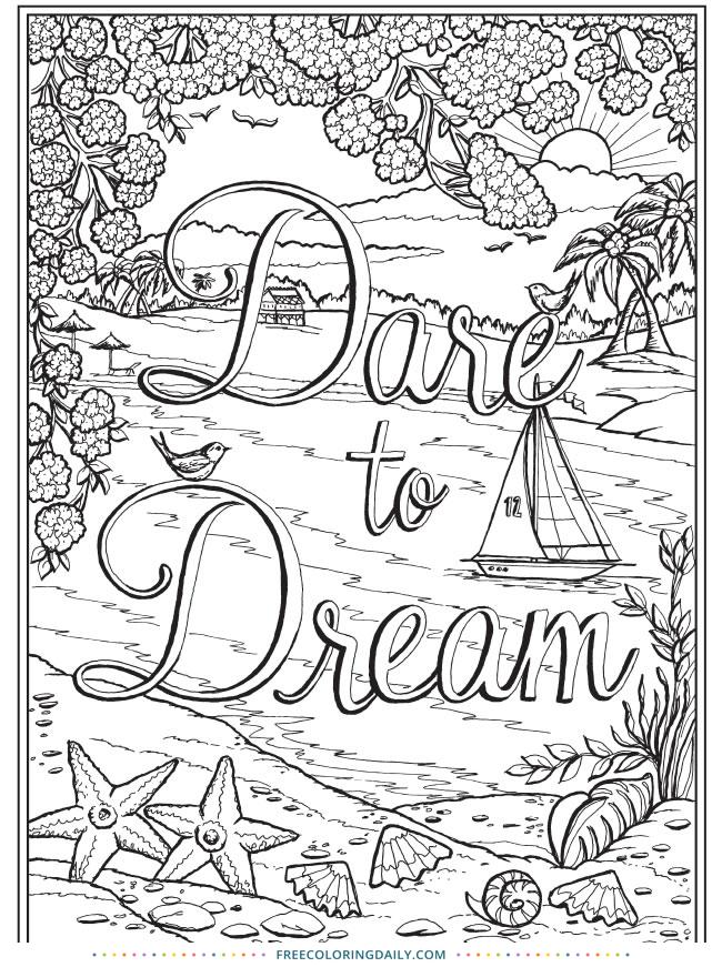 Free Dare to Dream Coloring