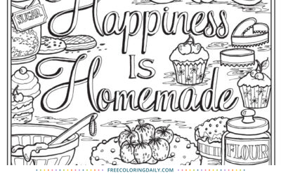 Free Bakery Coloring Page