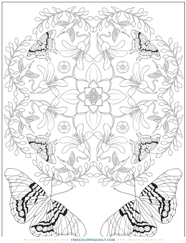 Free Beautiful Butterfly Pattern Coloring