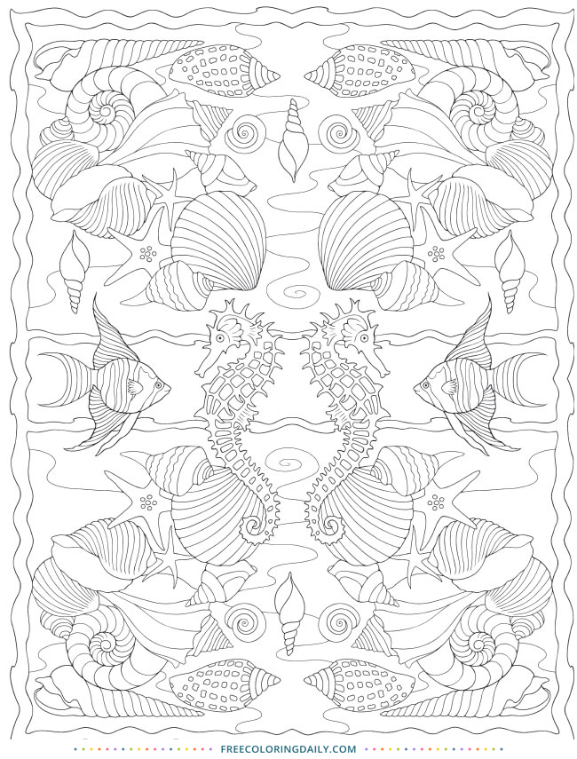 Free Tropical Fish Coloring Page