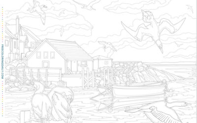 Free Seaside Coloring Page