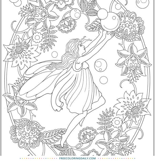 Free Pretty Fairy Coloring