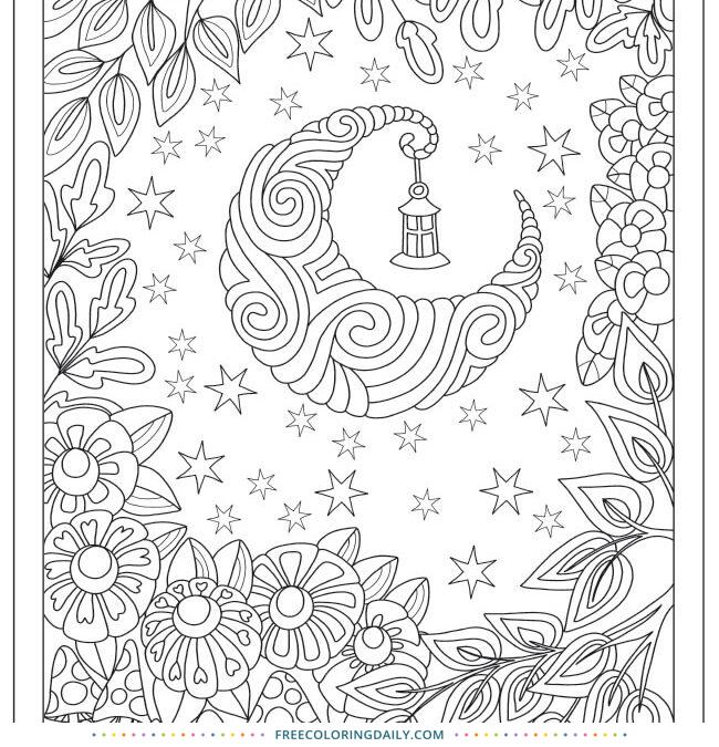 Free Moon Fantasy Coloring
