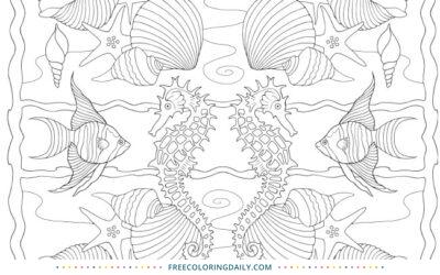 Free Tropical Fish Coloring