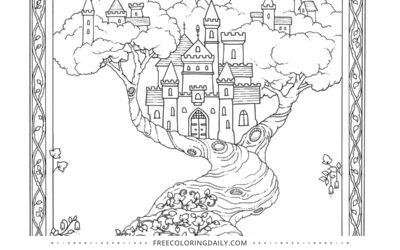 Free Fairytale Castle Coloring