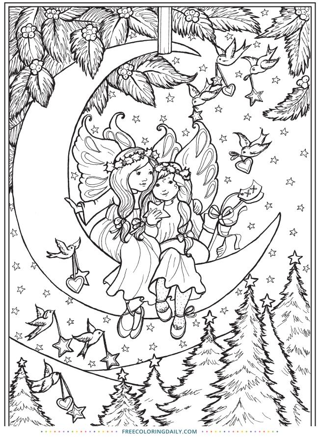 Free Cute Fairies Coloring