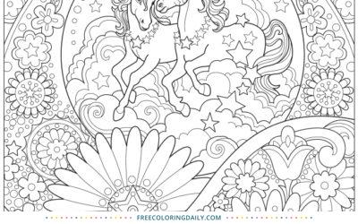 Free Unicorn Dreams Coloring