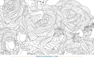 Free Flower Girl Coloring